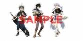 描き下ろしクリアステッカー3種セット(アスタ、ユノ、ノエル)