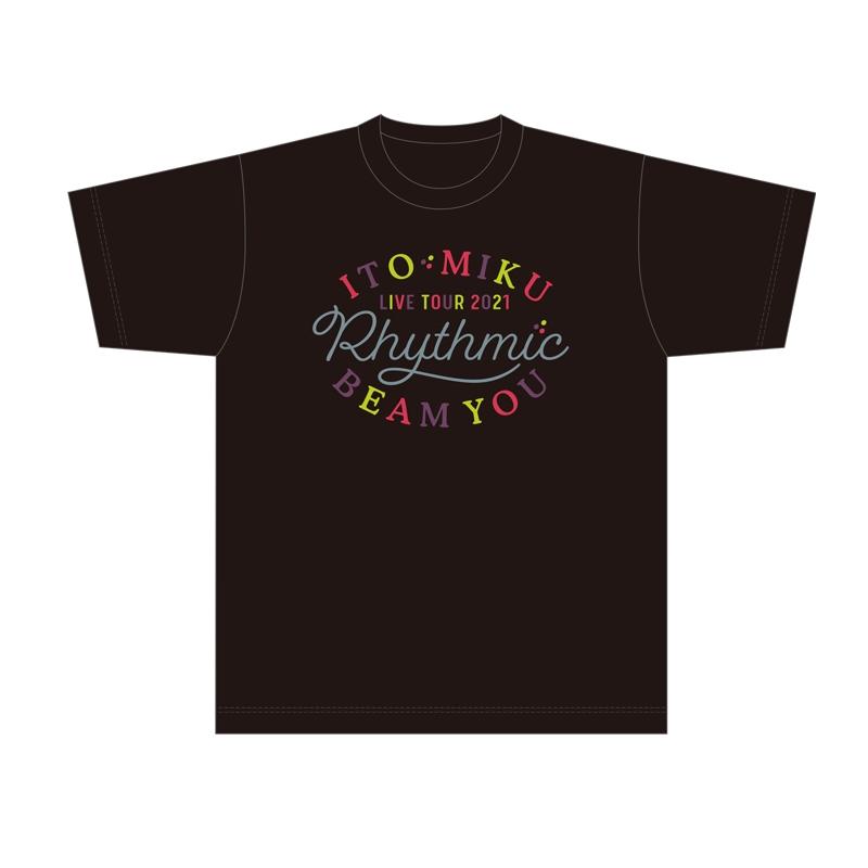 【グッズ-Tシャツ】伊藤美来 Live Tour 2021 Rhythmic BEAM YOU TシャツA(ロゴ)_L