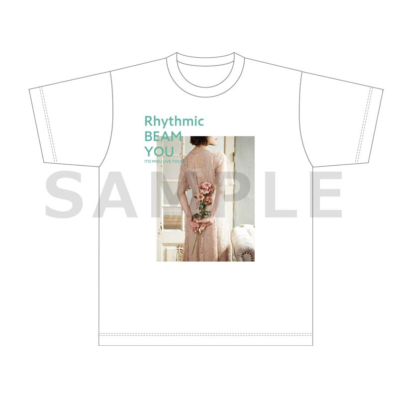【グッズ-Tシャツ】伊藤美来 Live Tour 2021 Rhythmic BEAM YOU TシャツB(フォト)_XL