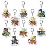 Fate/Grand Order 宝具コマンドカード トレーディングアクリルキーホルダー