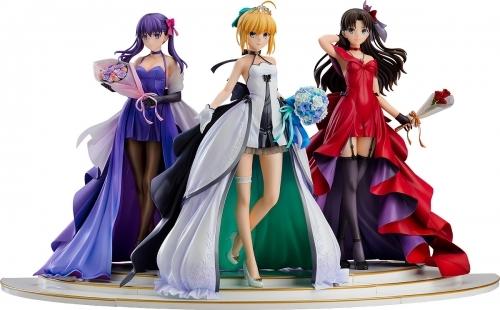 【フィギュア】Fate/stay night ~15th Celebration Project~ セイバー 遠坂凛 間桐桜 ~15th Celebration Dress Ver.~ Premium Box 1/7スケール ABS&PVC 製塗装済み完成品【特価】