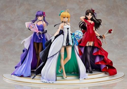 【フィギュア】Fate/stay night ~15th Celebration Project~ セイバー 遠坂凛 間桐桜 ~15th Celebration Dress Ver.~ Premium Box 1/7スケール ABS&PVC 製塗装済み完成品【特価】 サブ画像3