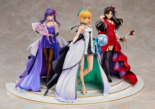 【フィギュア】Fate/stay night ~15th Celebration Project~ セイバー 遠坂凛 間桐桜 ~15th Celebration Dress Ver.~ Premium Box 1/7スケール ABS&PVC 製塗装済み完成品【特価】 サブ画像4