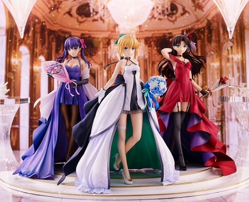 【フィギュア】Fate/stay night ~15th Celebration Project~ セイバー 遠坂凛 間桐桜 ~15th Celebration Dress Ver.~ Premium Box 1/7スケール ABS&PVC 製塗装済み完成品【特価】 サブ画像6