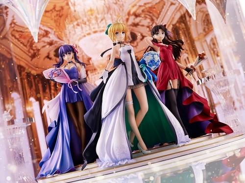 【フィギュア】Fate/stay night ~15th Celebration Project~ セイバー 遠坂凛 間桐桜 ~15th Celebration Dress Ver.~ Premium Box 1/7スケール ABS&PVC 製塗装済み完成品【特価】 サブ画像7