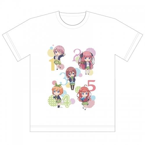 【グッズ-Tシャツ】五等分の花嫁 フルカラーTシャツ (ミニキャラ)Lサイズ