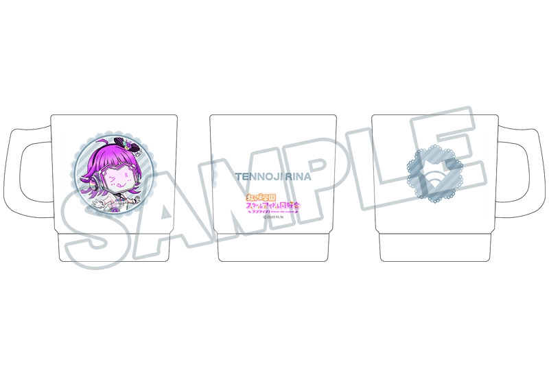 【グッズ-マグカップ】ラブライブ!虹ヶ咲学園スクールアイドル同好会 ねんどろいどぷらす スタッキングマグカップ 天王寺璃奈 Love U my friends