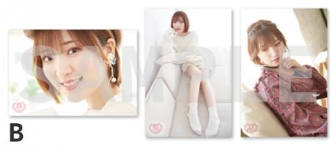 【グッズ-ブロマイド】「豊田萌絵 Birthday Party 2020」オリジナル生写真3枚セット    B