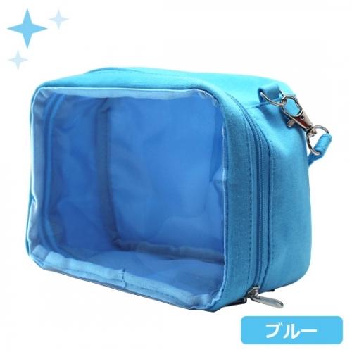 【グッズ-ポーチ】ノンキャラオリジナル ミニぬいポーチ Lサイズ ブルー