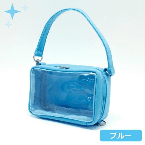 【グッズ-ポーチ】ノンキャラオリジナル ミニぬいポーチ Sサイズ ブルー