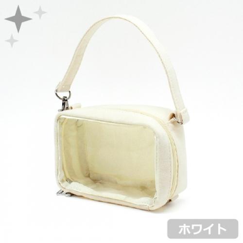 【グッズ-ポーチ】ノンキャラオリジナル ミニぬいポーチ Sサイズ ホワイト