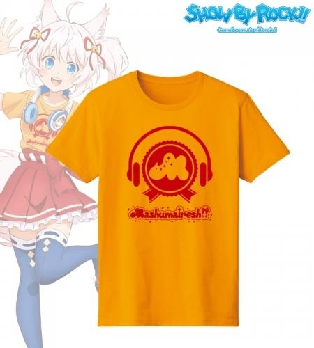 【グッズ-Tシャツ】SHOW BY ROCK!! 描き下ろしイラスト ヘッドフォンver. ロゴTシャツメンズ(サイズ/XL)