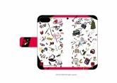 ペルソナ5 手帳型スマホケース(iPhone6/6s/7/8兼用) 02/ちりばめデザイン(グラフアートデザイン)