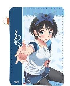 【グッズ-パスケース】彼女、お借りします レザーパスケース  03 瑠夏