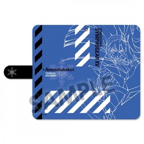 【グッズ-携帯グッズ】戦姫絶唱シンフォギアXV 手帳型スマートフォンケース 風鳴翼 Mサイズ