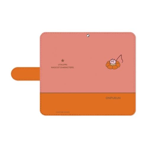 【グッズ-携帯グッズ】うたの☆プリンスさまっ♪ マスコットキャラクターズ レトロフラワーVer. おんぷくん 手帳型スマホケース(Lサイズ) サブ画像2