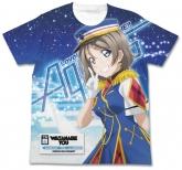ラブライブ!サンシャイン!! 渡辺 曜フルグラフィックTシャツ HAPPY PARTY TRAIN Ver./WHITE-XL