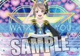 ラブライブ!サンシャイン!! キャラクター万能ラバーマット 「渡辺 曜」WATER BLUE NEW WORLD Ver.