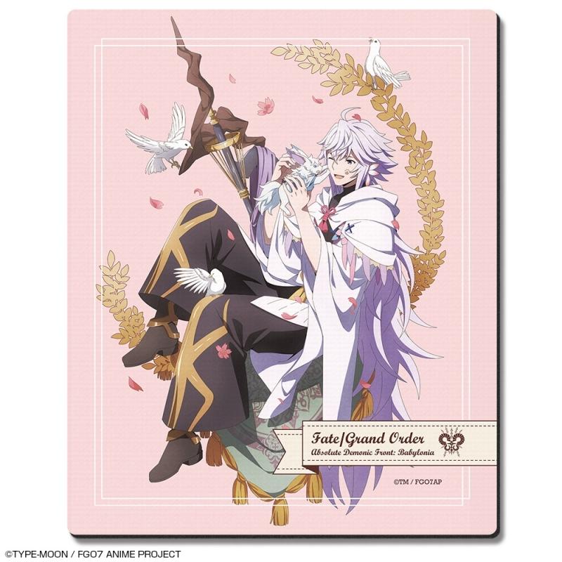 【グッズ-マウスパッド】Fate/Grand Order -絶対魔獣戦線バビロニア- ラバーマウスパッド Ver.4 デザイン06(マーリン&フォウ)
