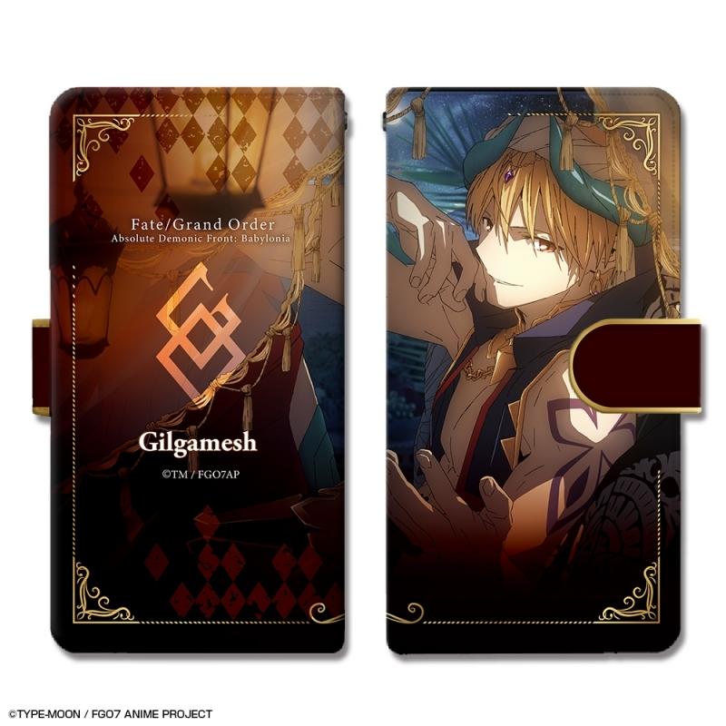 【グッズ-携帯グッズ】Fate/Grand Order -絶対魔獣戦線バビロニア- ブックスタイルスマホケース Mサイズ デザイン03(ギルガメッシュ)