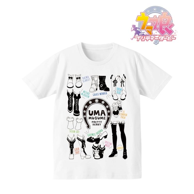 【グッズ-Tシャツ】ウマ娘 プリティーダービー ラインアートTシャツメンズ(サイズ/L)【再販】