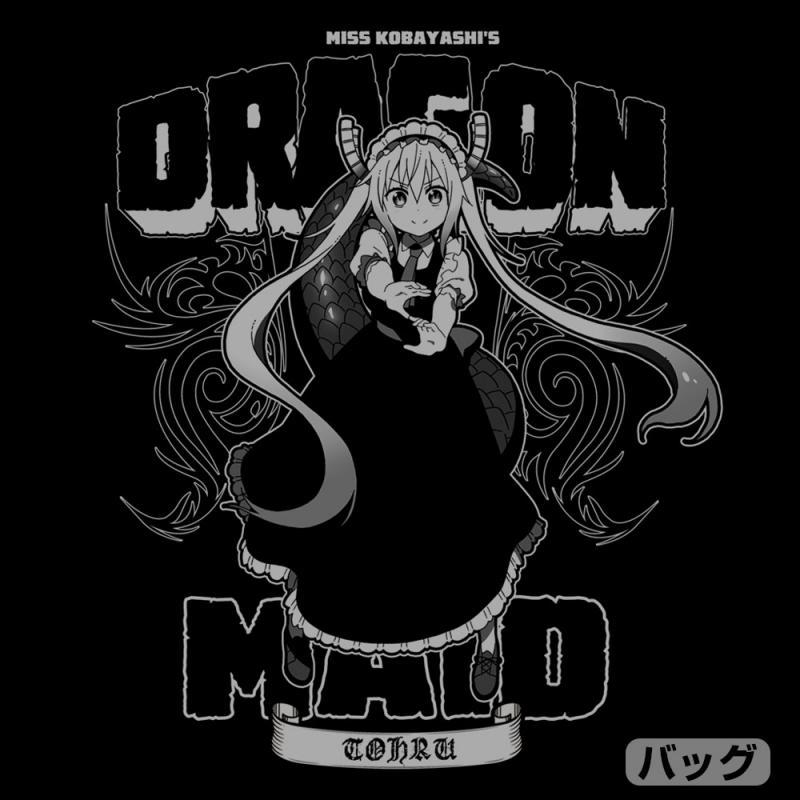 【グッズ-ウィンドブレーカー】小林さんちのメイドラゴンS トール ジップパーカー/BLACK-L サブ画像3