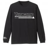 ゆるキャン△ 袖リブロングスリーブTシャツ/BLACK-L