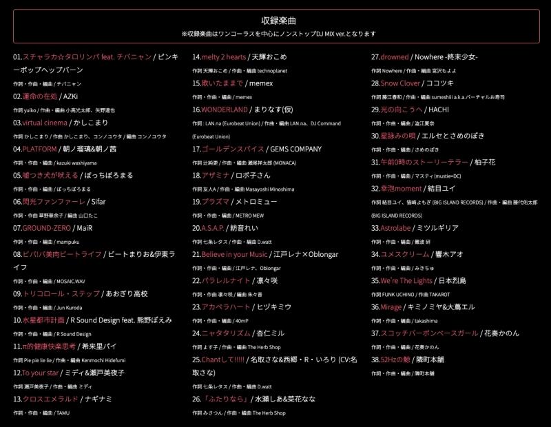 【アルバム】VirtuaREAL MIX.02 mixed by DJ TAMU 【通常版】 サブ画像2