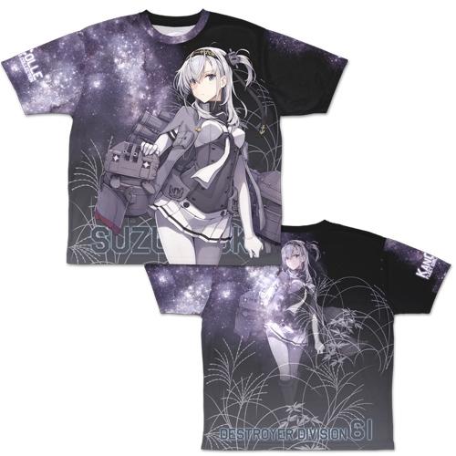 【グッズ-Tシャツ】艦隊これくしょん -艦これ- 涼月 両面フルグラフィックTシャツ/L