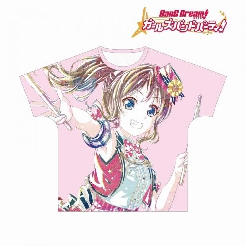 【グッズ-Tシャツ】BanG Dream! ガールズバンドパーティ! 山吹沙綾 Ani-Art フルグラフィックTシャツ vol.2ユニセックス(サイズ/L)