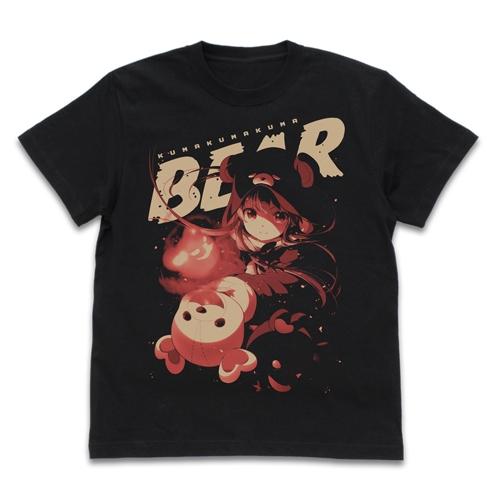 【グッズ-Tシャツ】くまクマ熊ベアー くまクマ熊ベアー Tシャツ BLACK-XL