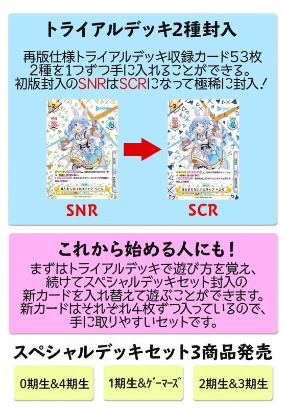 【グッズ-カード】Reバース for you スペシャルデッキセット ホロライブプロダクション 2期生&3期生 サブ画像2