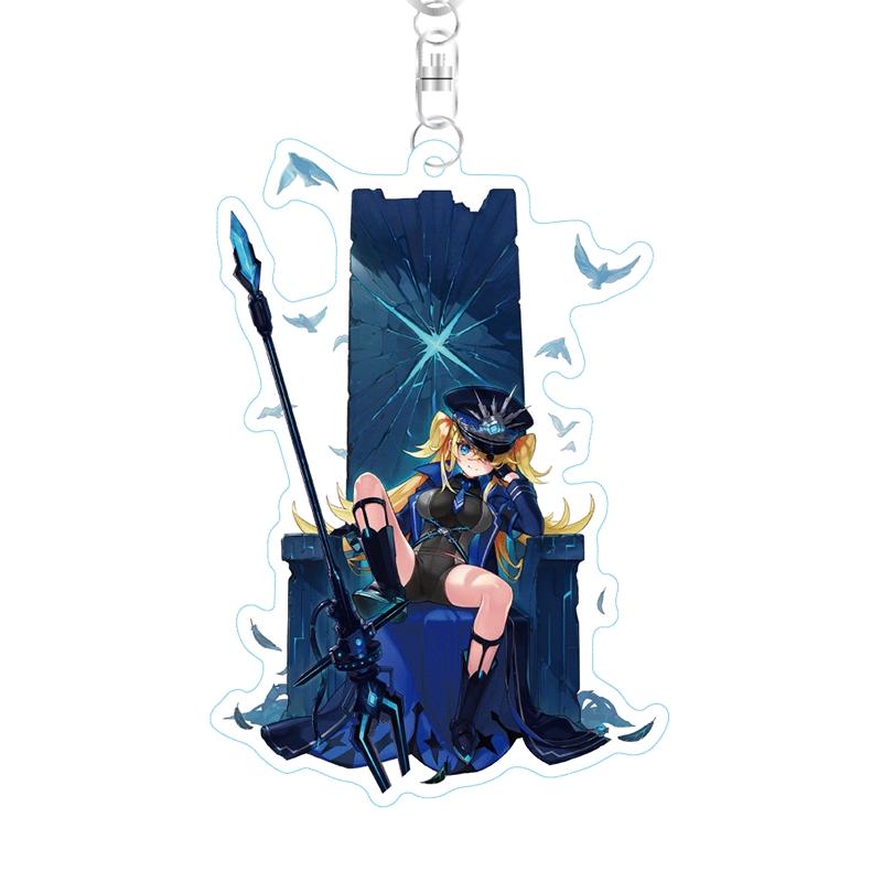 【グッズ-キーホルダー】ファンキル ストラップ付キル姫アクリルキーホルダー グラーシーザ・神令・フォルセティ【再販】