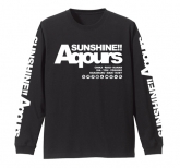 ラブライブ!サンシャイン!! AqoursロングスリーブTシャツ/BLACK-M