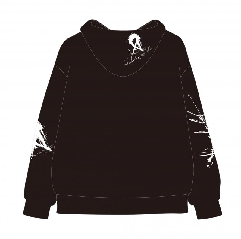 """【グッズ-パーカー】ファンキル """"threshold""""  Big silhouette HOODIE 「CALL」 by MASATO KIMURA【受注生産商品】 サブ画像4"""