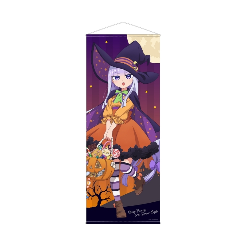 【グッズ-タペストリー】魔王城でおやすみ 描き下ろしイラスト スヤリス姫 ハロウィンver. 等身大タペストリー