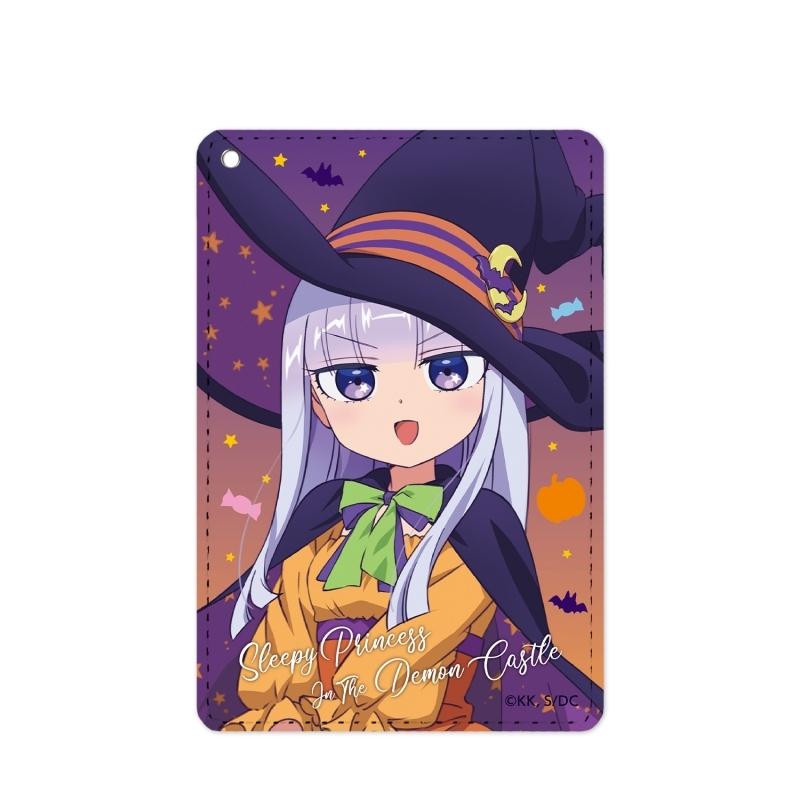 【グッズ-パスケース】魔王城でおやすみ 描き下ろしイラスト スヤリス姫 ハロウィンver. 1ポケットパスケース