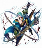 ファントム オブ キル ストラップ付キル姫アクリルキーホルダー カシウス・獣刻・ウロボロス