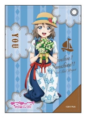 【グッズ-パスケース】ラブライブ!サンシャイン!!  合皮パスケース 渡辺 曜 花飾りver